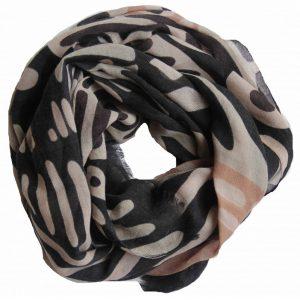 echarpe en laine brazza noir