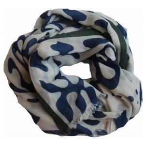 echarpe en laine kolam bleue