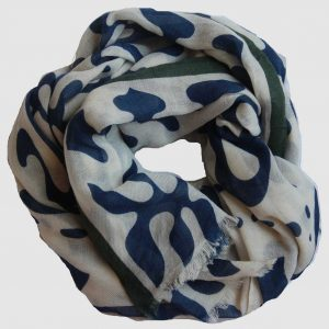 Echarpe XL Kolam - Bleu