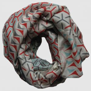 Foulard Soir Art Déco - Corail