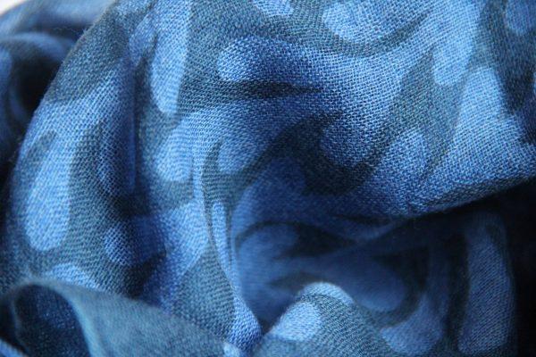 echarpe tree of life bleu