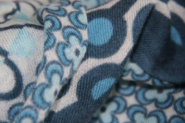 Echarpe vintage bleu