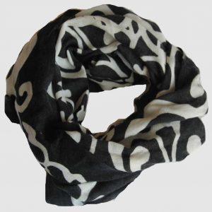 Echarpe Arabesque - Noir et Blanc