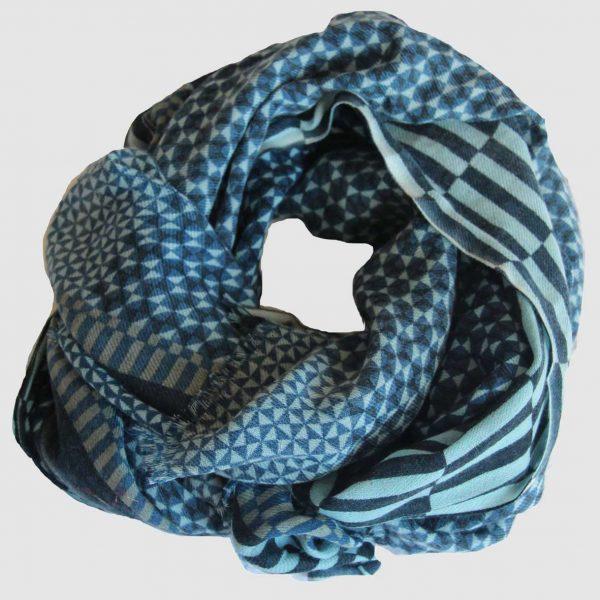 Echarpe Arpenteur - Bleu