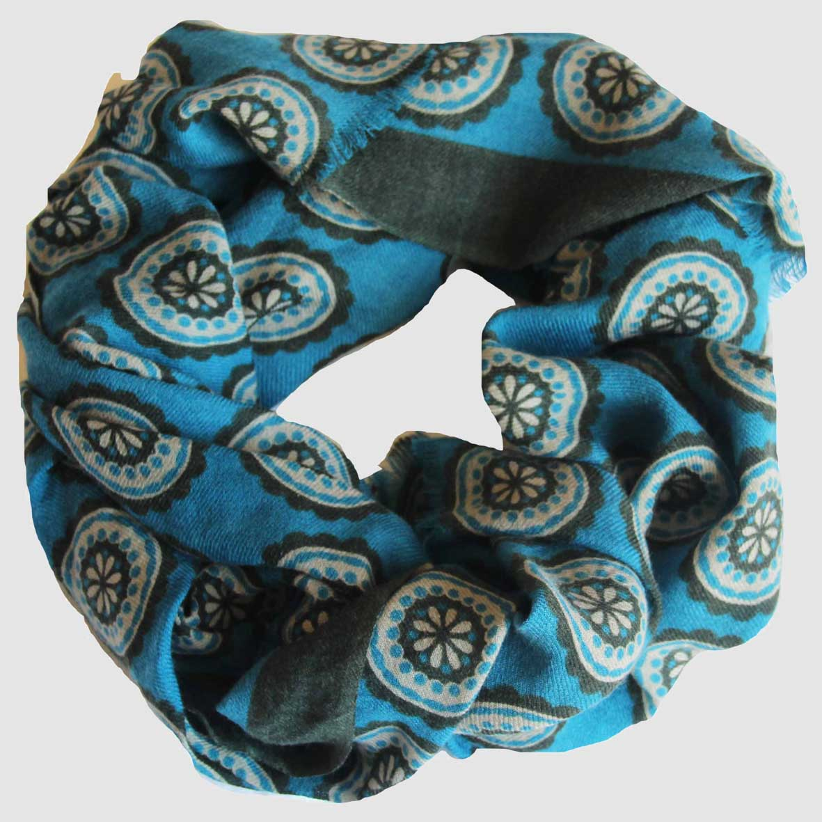 Echarpe Rosace - Bleu