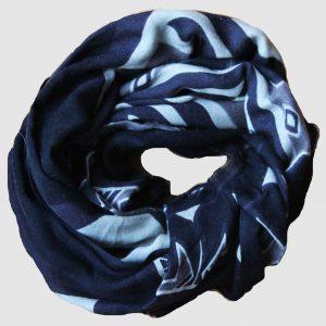 Echarpe XL Ndebele - Bleu