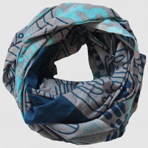 Foulard Mwassa - Bleu