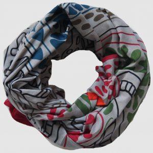 foulard mwassa gris