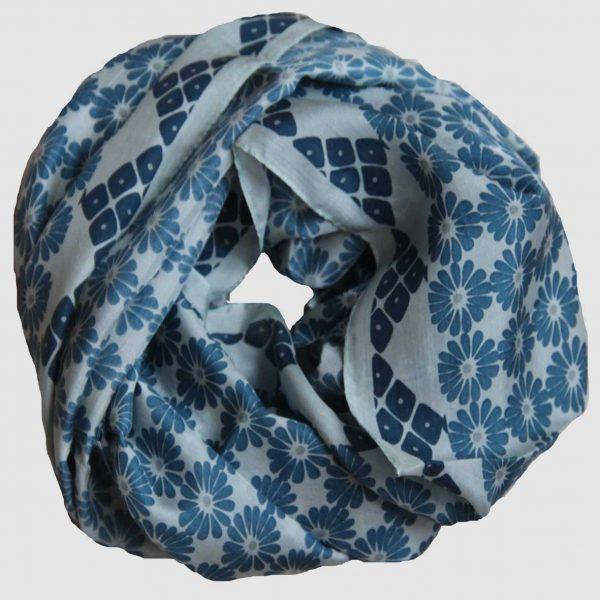 Foulard Soie Kyoto - Bleu