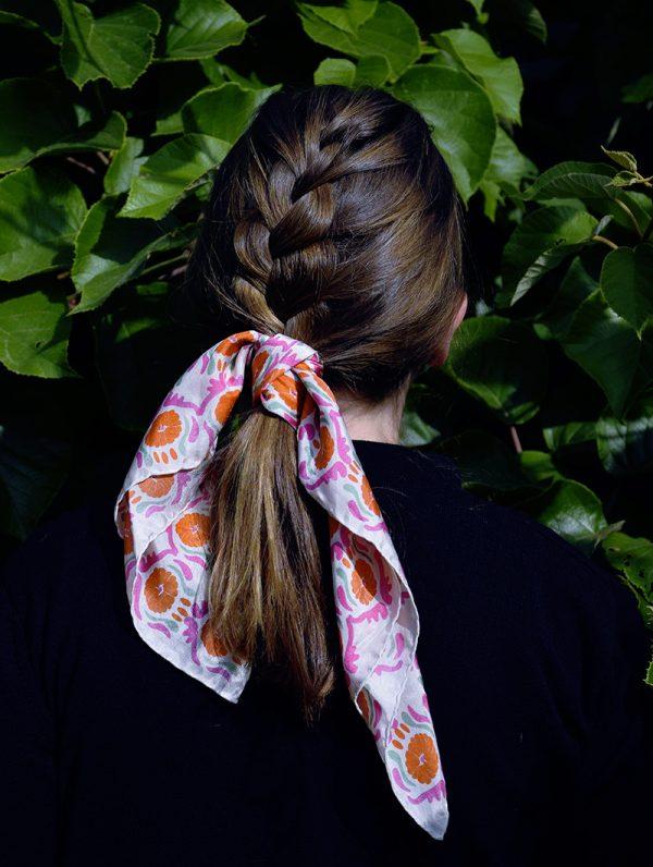 foulard soie mini-jaipur-orange-et-rose-1