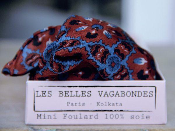 foulard soie mini-marrakech-marron-2