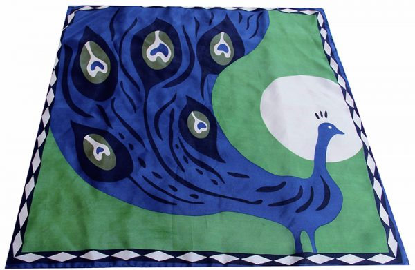 foulard soie mini-paon-vert-et-bleu-1