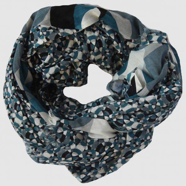 Foulard Kaléidoscope - Bleu