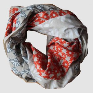 foulard coton bio goa orange