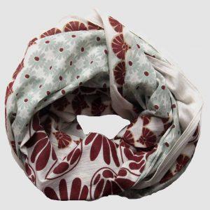 foulard coton bio goa rose