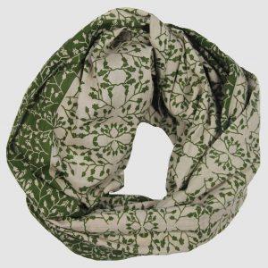 foulard coton bio Gypsophile kaki