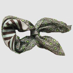 Foulard-soie-mini-alpha-vert
