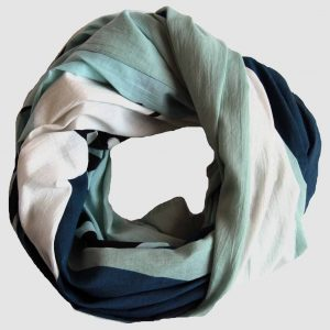 Foulard coton bio Tropical Bleu