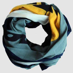 foulard coton bio tropical marine