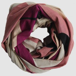 foulard coton bio tropical rose