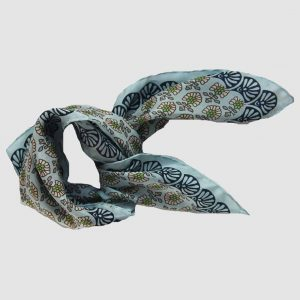 mini-pondichery-bleu-foulard en soie Les Belles Vagabondes
