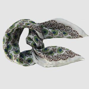 foulard-soie-Pondichery-vert-les belles vagabondes